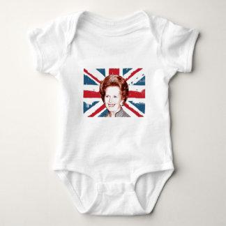 MARGARET THATCHER UNION JACK BABY BODYSUIT
