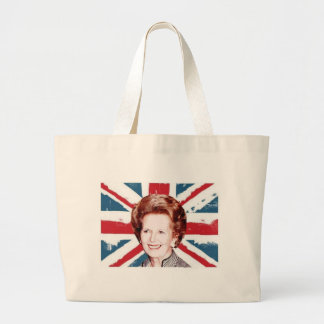 MARGARET THATCHER UNION JACK LARGE TOTE BAG