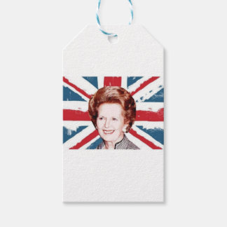 MARGARET THATCHER UNION JACK PACK OF GIFT TAGS