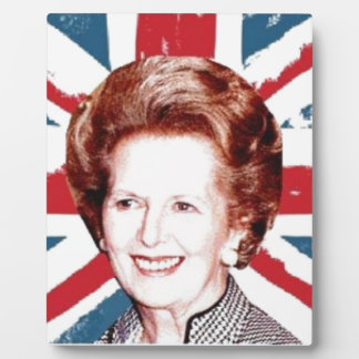 MARGARET THATCHER UNION JACK PLAQUE