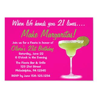 Margarita 21st Birthday Invitation