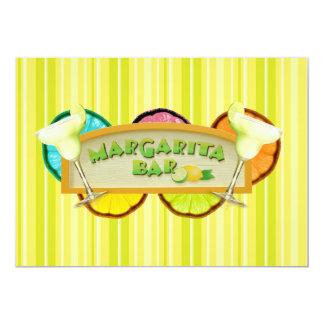 Margarita bar card