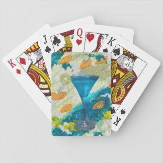 Margarita bleue cartes à jouer