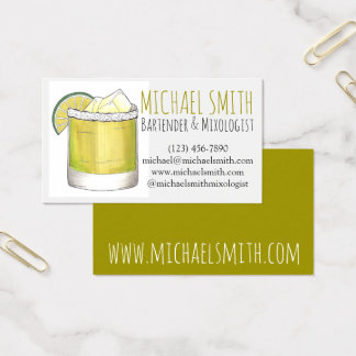 Margarita Cocktail Mixologist Bar Bartender Drink Business Card