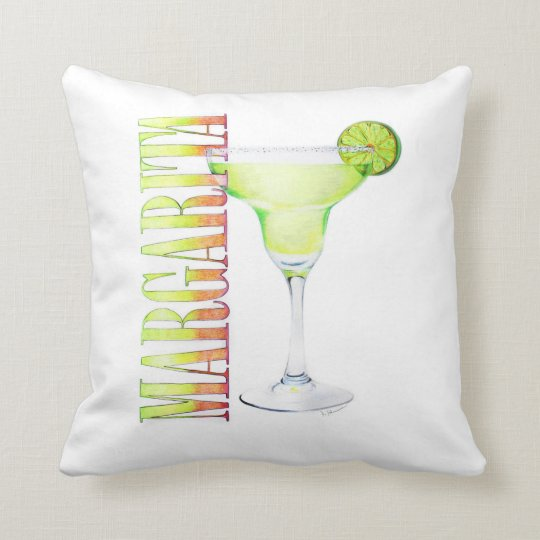 Margarita Cocktail Throw Pillow