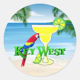 Margarita de Key West Sticker Rond