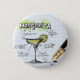 Margarita Drink- Cocktail Gift 2 Inch Round Button