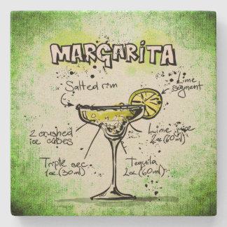 Margarita Drink Recipe Stone Beverage Coaster