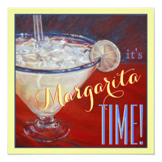 Margarita drink red blue yellow bachelorette card