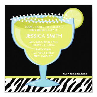 Margarita Glass Party Card