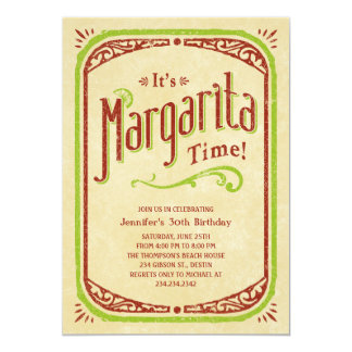 Margarita Invitations - Fiesta Tequila Beach Party