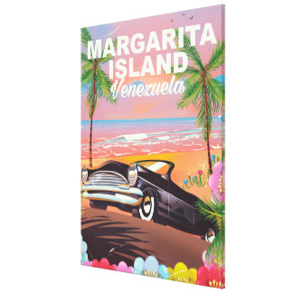 Margarita Island - Venezuela travel poster Canvas Print