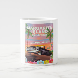 Margarita Island - Venezuela travel poster Large Coffee Mug