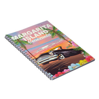 Margarita Island - Venezuela travel poster Notebook