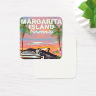Margarita Island - Venezuela travel poster Square Business Card