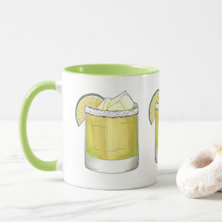 Margarita Lime Cocktail Mixologist Drinking Cheers Mug