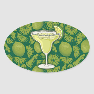 Margarita Oval Sticker