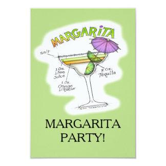 MARGARITA RECIPE COCKTAIL ART CARD