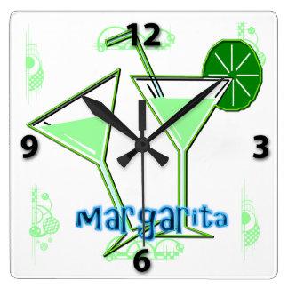 Margarita Square Wall Clock