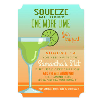 Margarita | Squeeze Me Baby One More Lime Card