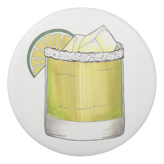 Margarita Summer Cocktail Mixed Drink Lime Green Eraser