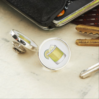 Margarita Summer Cocktail Mixed Drink Lime Green Lapel Pin