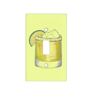 Margarita Summer Cocktail Mixed Drink Lime Green Light Switch Cover