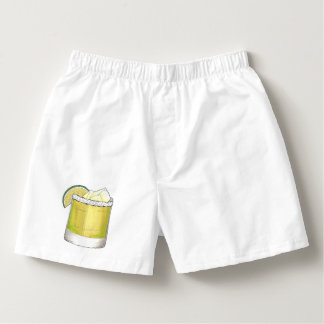 Margarita Summer Cocktail Mixed Drink Lime Print Boxers