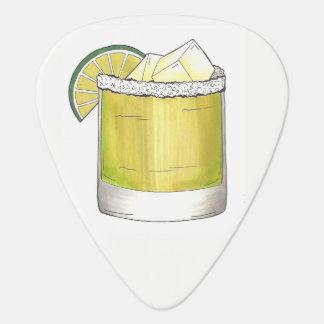 Margarita Summer Cocktail Mixed Drink Lime Salt Guitar Pick