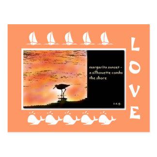 Margarita Sunset Haiku Art Collectible Postcard
