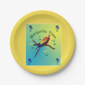 Margarita time paper plate