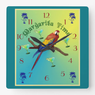 Margarita time square wall clock