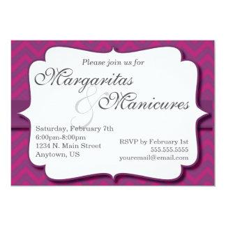 Margaritas and Manicures Invitation