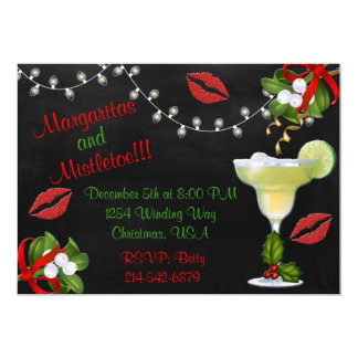 Margaritas and Mistletoe Lights Party Invite