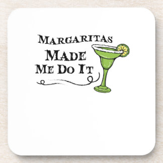 Margaritas Made Me Do It  Funny Drinking Gift Coaster