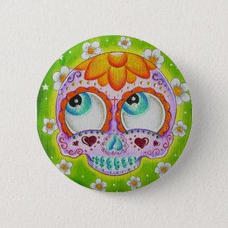 Margaritas skull 2 inch round button