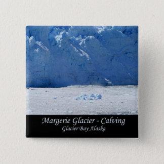 Margerie Glacier Calving/Glacier Bay Alaska 2 Inch Square Button