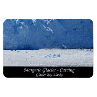Margerie Glacier Calving/Glacier Bay Alaska Magnet