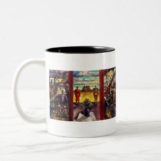 Margfolket Inner Sleeve Painting Two-tone Mug