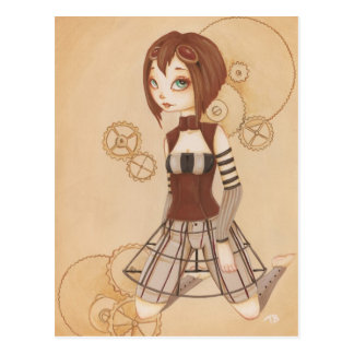Margo - Steampunk Post Card