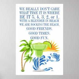 Marguerita (Margarita) Beach Poster