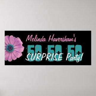 Marguerite de rose de fête d'anniversaire de surpr poster
