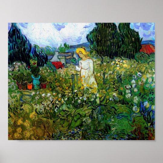 Marguerite Gachet in Garden Van Gogh Fine Art Poster