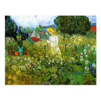 Marguerite Gachet in the Garden by van Gogh Postcard