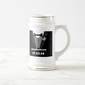 Marguerite Groomsman Stein de Gerber de cravate Tasses À Café
