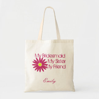 Marguerite rose de cerise personnalisable sac en toile budget