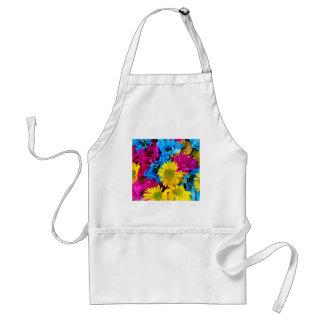 Marguerites brillamment colorées tablier