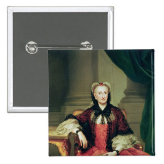 Maria Amalia of Saxony  Queen of Spain 2 Inch Square Button