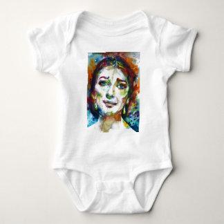 MARIA CALLAS - watercolor portrait.2 Baby Bodysuit