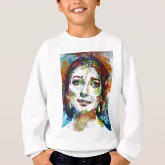 MARIA CALLAS - watercolor portrait.2 Sweatshirt